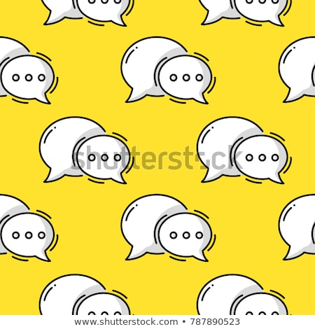 Stock photo: Two speech bubbles of live chat
