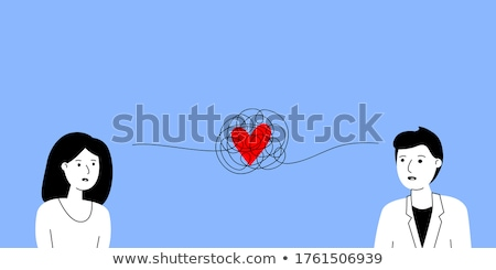 broken relationship between young man and woman, vector  Stock photo © freesoulproduction