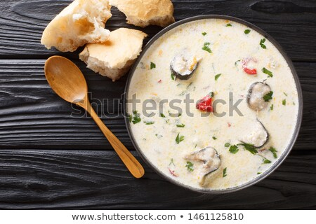 soup cream eel Stock photo © fanfo