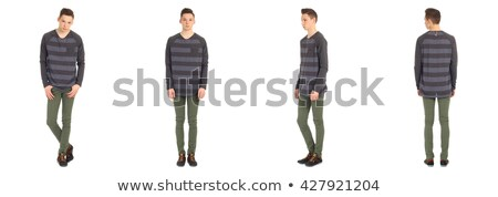 full length portrait of attractive school boy stock photo © stockyimages
