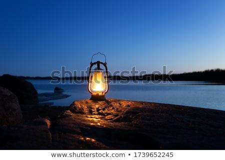 Lámpa sötét hagyományos gazdaságos modern villanykörte Stock fotó © taviphoto