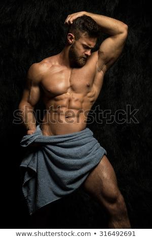 Muscular hunk Stock photo © curaphotography
