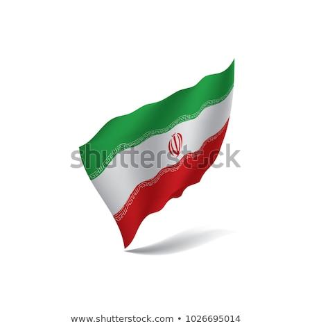 Görüntü kalp bayrak İran Stok fotoğraf © perysty
