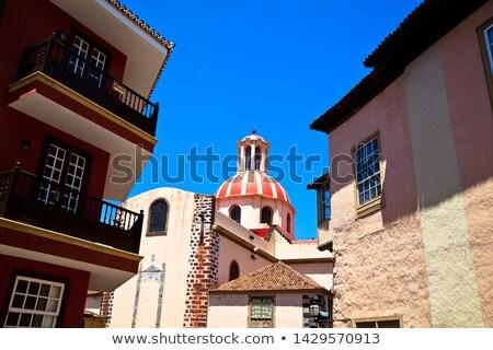 La Orotava Concepcion church red dome Stock photo © lunamarina