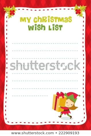 Noel · erkek · kız · sevimli · küçük - stok fotoğraf © urchenkojulia