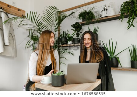 Couple taking a break from working on their laptops Stock photo © photography33