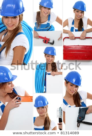 Montage of female plumber at work Stock photo © photography33