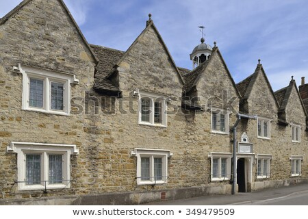 Traditional cotswold stone almshouses Stock photo © backyardproductions