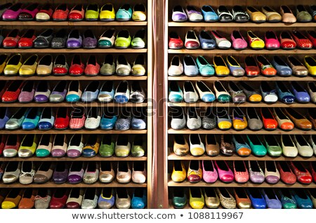 Many-coloured women's shoes Stock photo © a2bb5s