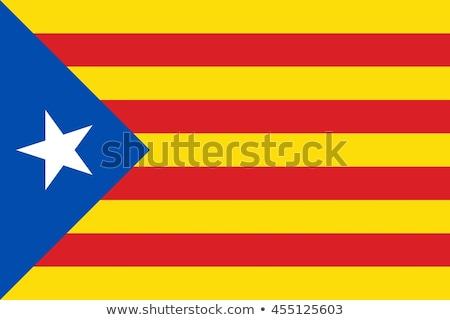 испанский флаг путешествия Сток-фото © arturasker