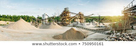 open cast mine extraction of iron ore stock photo © andriy-solovyov