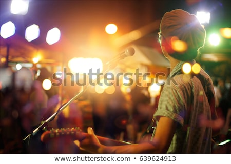 vivir · banda · jugando · tambor · guitarra · música - foto stock © mintymilk