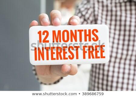 12 mesi libero rosso vettore Foto d'archivio © THP