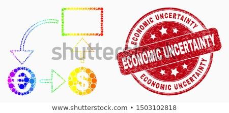 Vector teken economisch bloem glas netwerk Stockfoto © butenkow