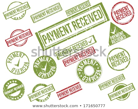 Сток-фото: Payment Received Stamp Set
