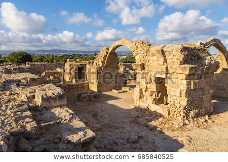 ruins of Saranda Kolones , PAPHOS, CYPRUS Stock photo © Snapshot