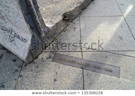 berlin wall memorial marking stock photo © eldadcarin