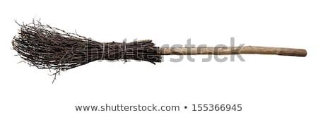 Süpürge eski gri duvar Stok fotoğraf © stevanovicigor