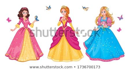 Sprookje prinses illustratie kunst tiener kroon Stockfoto © Dazdraperma
