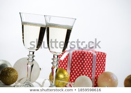 ストックフォト: 眼鏡 · シャンパン · 愛 · ワイン · 楽しい · ディナー