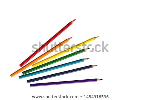 Color pencil crayons on white background stock photo © tainasohlman