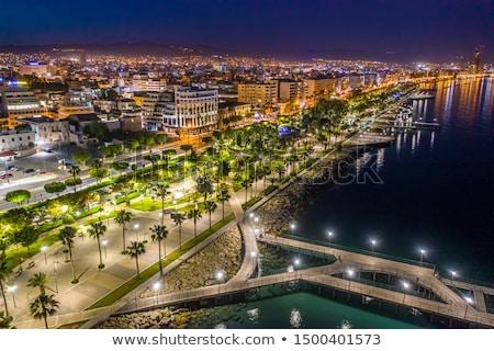 Nacht middellandse zee haven standbeeld permanente Stockfoto © hraska
