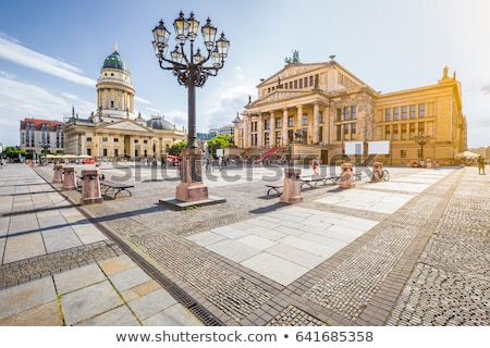 German Cathedral and Concert Hall on Gendarmenmarkt Square at Ni Stock photo © anshar