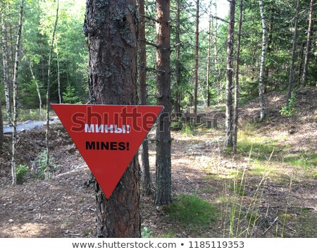 Mines warning Stock photo © FOTOYOU
