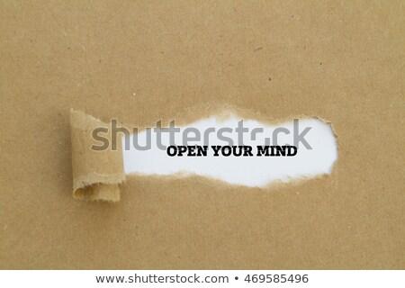 отношение · рваной · бумаги · за · Torn · грубая · оберточная · бумага · бумаги - Сток-фото © ivelin