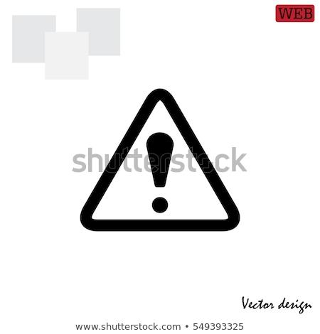 disabled icon on triangle background stock photo © tashatuvango