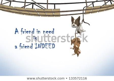 Barát szükség futurisztikus motivációs kréta szöveg Stock fotó © maxmitzu