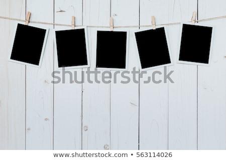 fotózás · papír · azonnali · fényképkeret · csatolva · kötél - stock fotó © redpixel