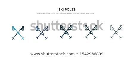 conjunto · desenhos · esquiador · céu · projeto - foto stock © Lota