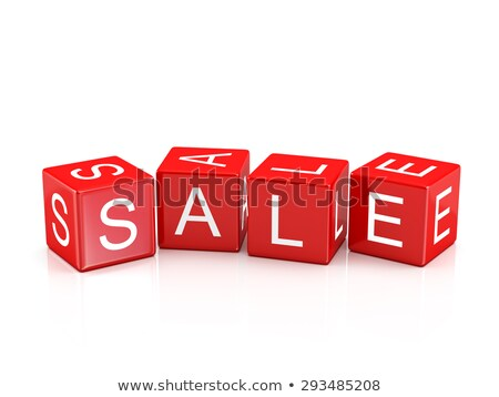 Sale - Colored Childrens Alphabet Blocks. Stock photo © tashatuvango