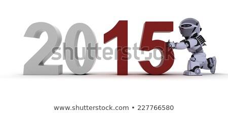 Happy New Robot 2015 Stockfoto © Kjpargeter