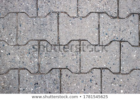 Gray Pavement  Slabs in the Polygonal Shape. Stock photo © tashatuvango
