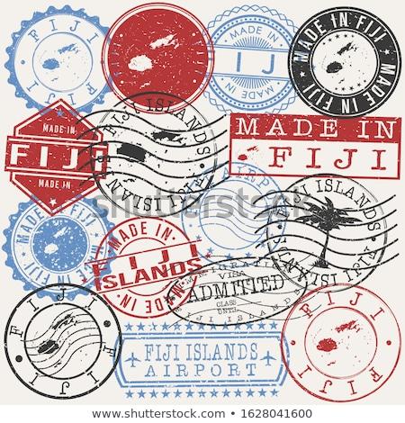 Postabélyeg ikon Fidzsi-szigetek izolált fehér posta Stock fotó © MikhailMishchenko