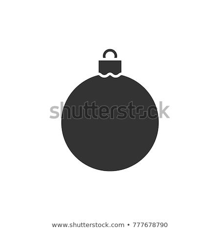 クリスマス アイコン ベクトル グレー 色 ストックフォト © aliaksandra