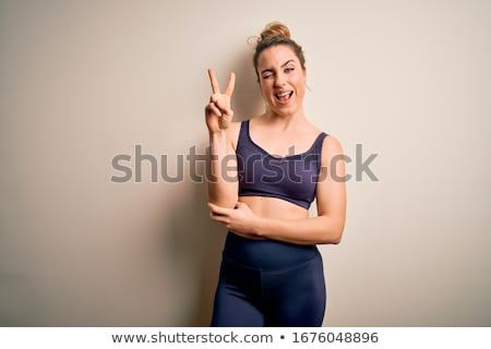 Fit young blond. Stock photo © lithian