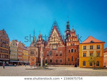 légifelvétel · óváros · Lengyelország · ház · város · tájkép - stock fotó © joyr