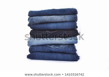 Jeans drie gevouwen Stockfoto © Valeriy