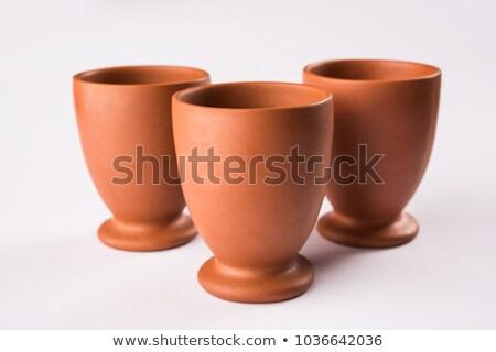 Bağbozumu kil su fincan eski dizayn Stok fotoğraf © arvinproduction