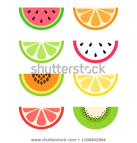 Papaya fruit sliced on half isolated Stock photo © ozaiachin