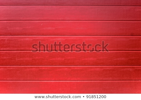 Pine wood panelling painted red Stock photo © Ximinez
