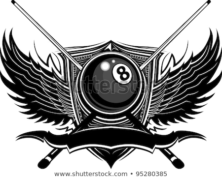 Pool Or Billiards Ball With Wings Stock foto © ChromaCo
