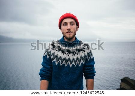 ストックフォト: 幸せ · 船乗り · 肖像 · ハンサム · シャツを着ていない · 後ろ