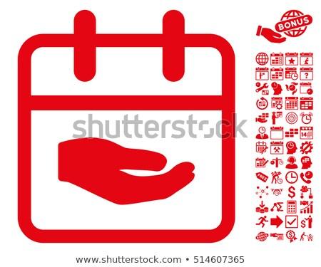 Schenken Rood sticky notes vector icon ontwerp Stockfoto © rizwanali3d