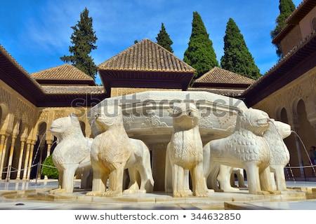 дворец Альгамбра Испания архитектура Европа Сток-фото © rmbarricarte