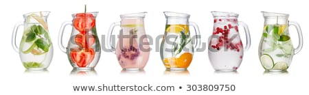 Stock photo: Cranberry lemon iced detox water