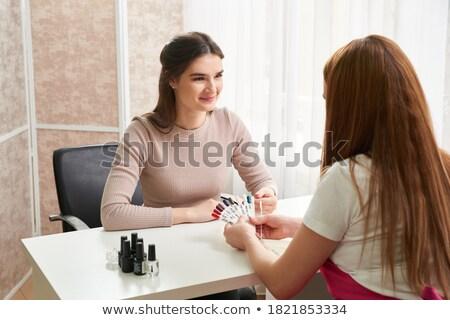 Client chiodo colori salone di bellezza donna Foto d'archivio © wavebreak_media